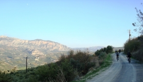 Xerolia mountain bike tour near Heraklion Crete giouchtas view