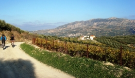Xerolia mountain bike tour near Heraklion Crete the village