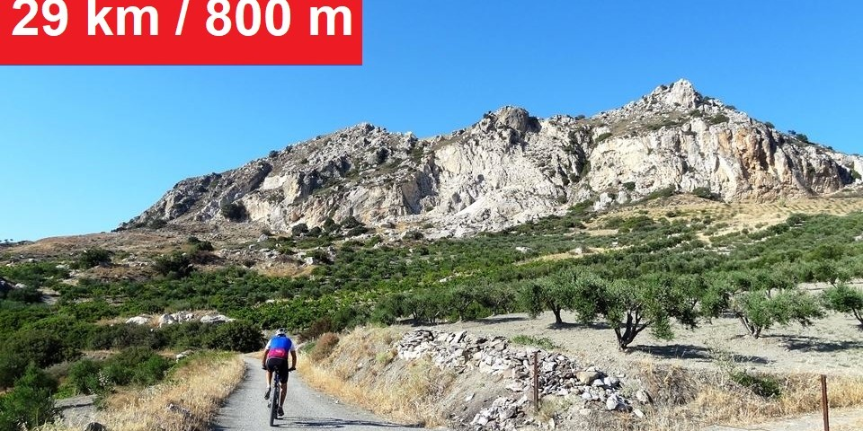 Avgerinos rocca mountain bike tour crete Rocca hill
