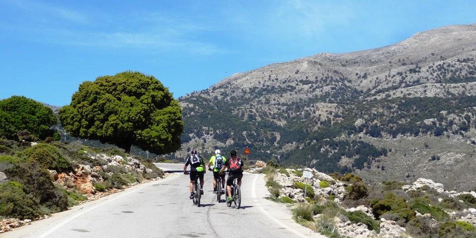 uphill to lasithi plateau kritsa Crete