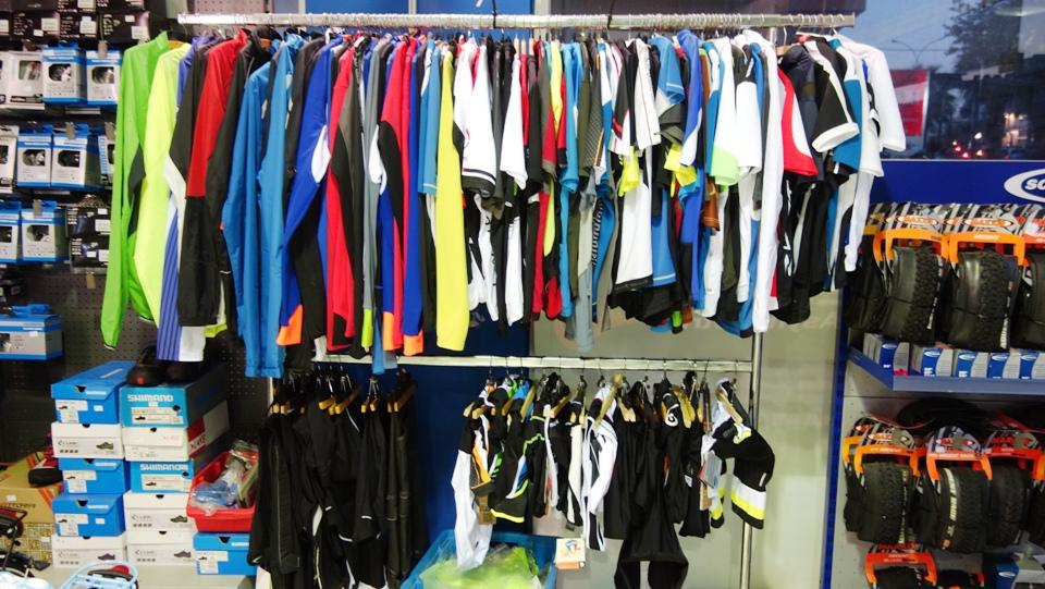 clothes of podilatis bike shop