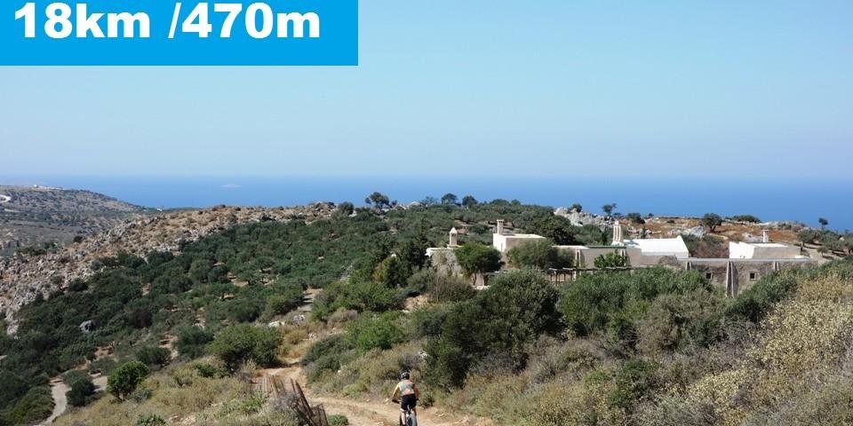 cyclists ride fat bike from haraso to Eleousas monastery