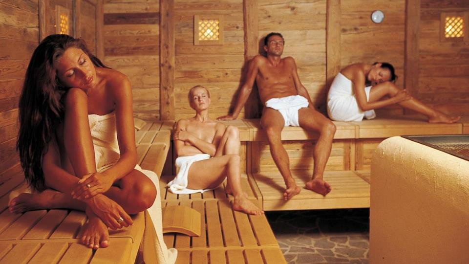 sauna after a mountain bike tour