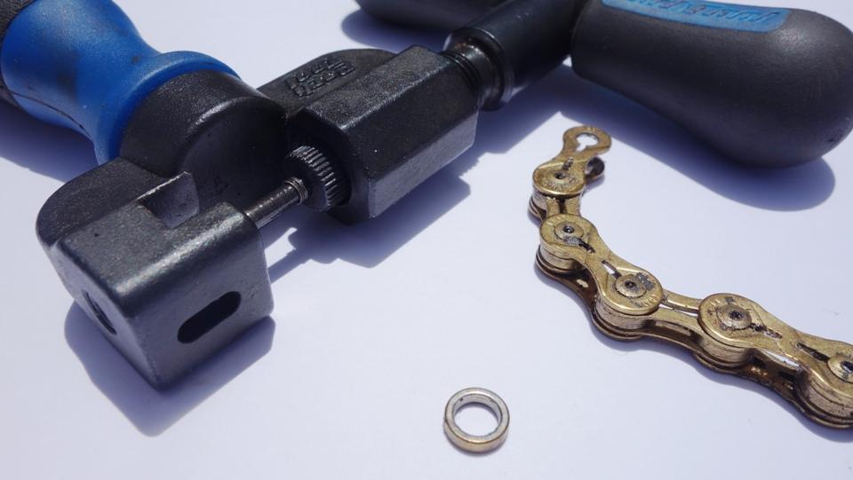 bike chain tool and washer