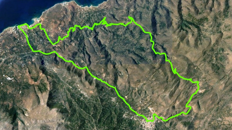 xera-xila bike tour map