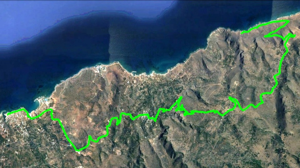 anogia-secret-beach bike tour map