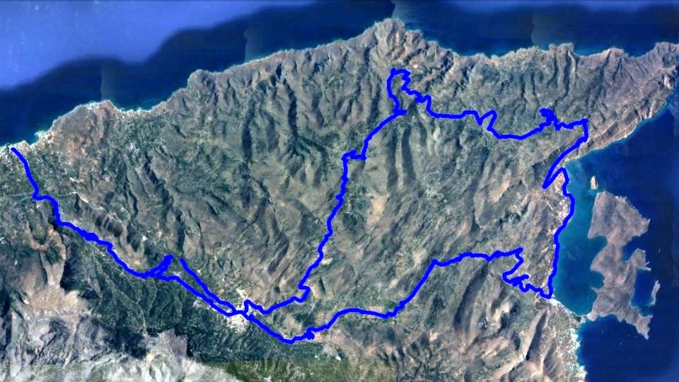 merabeliotissa-west bike tour map