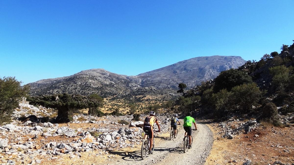 katharo plateau and cyclists