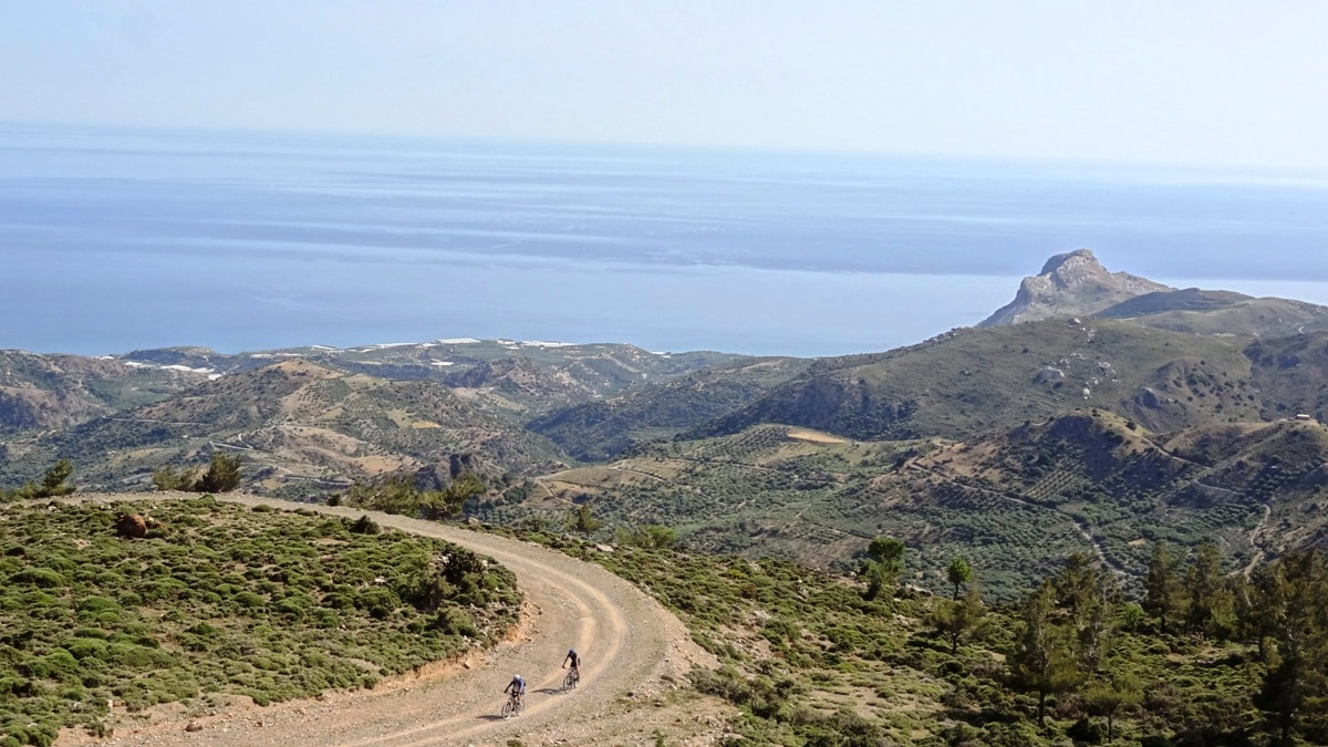 cycling from kerato kastri to viannos crete