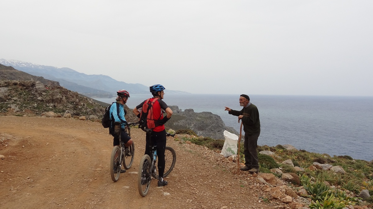 local shows the way to go to tsoutsouras to cyclists who are lost