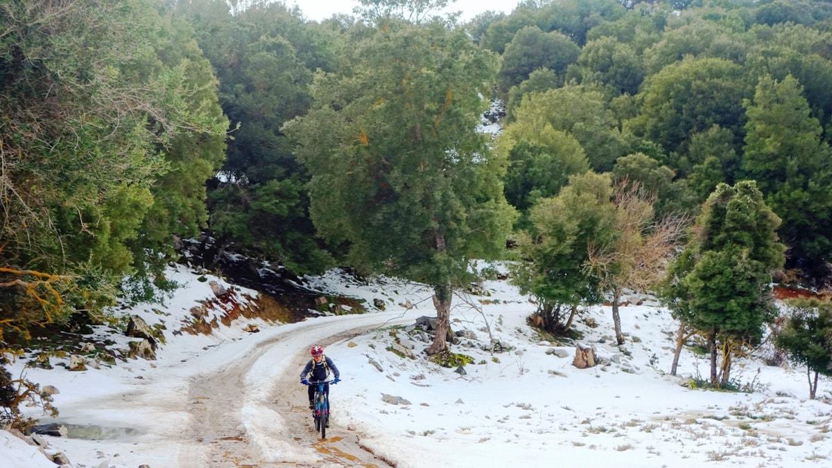 white full of snowcrete and cyclist-4