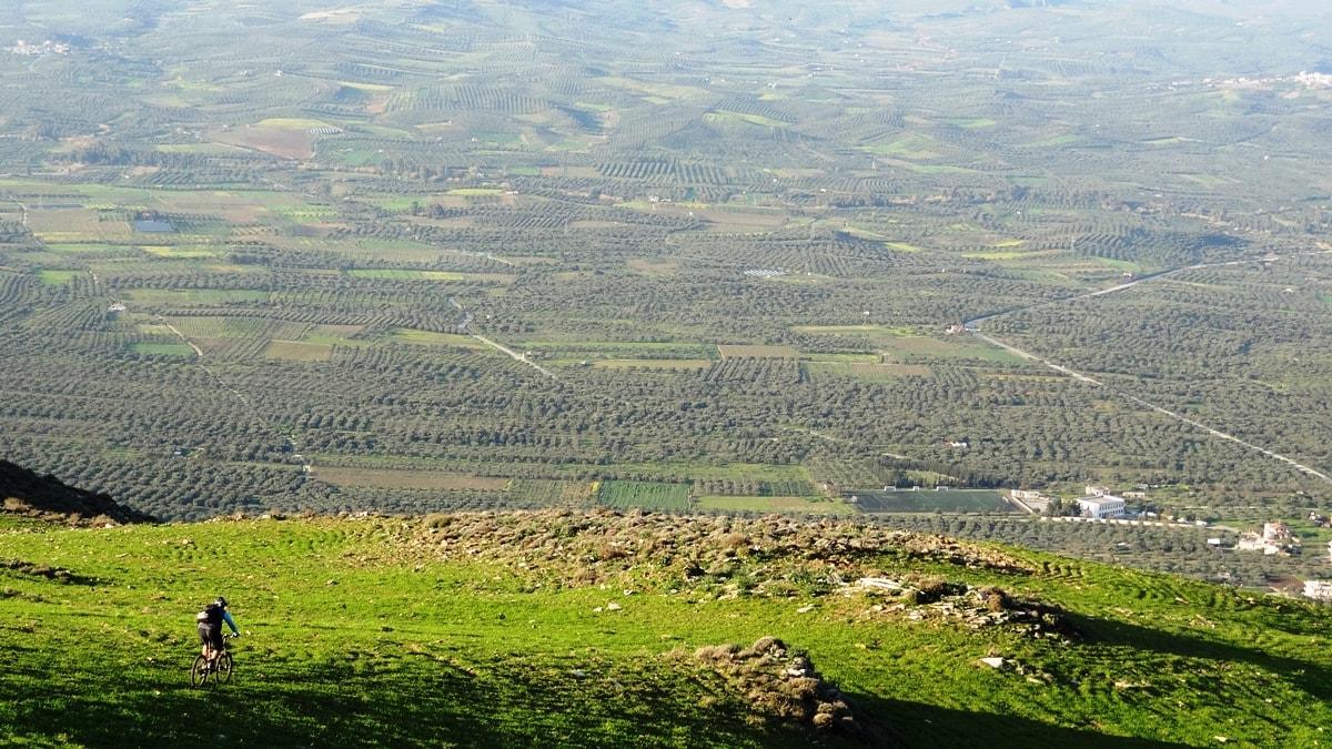 mesara plain from above Crete