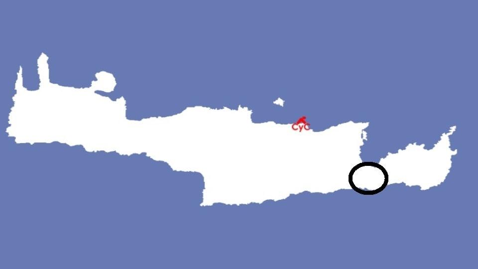 Ierapetra map Crete