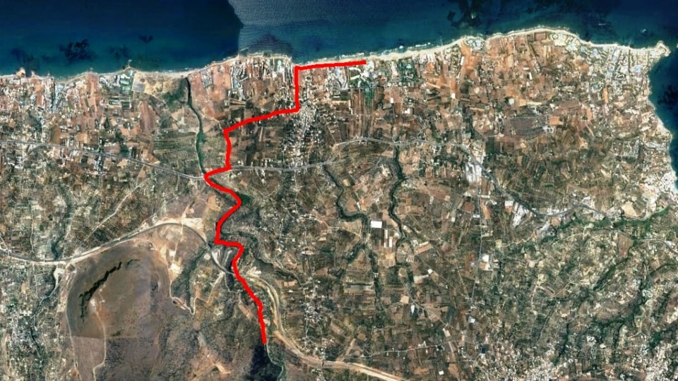 aposelemis canyon bike tour map