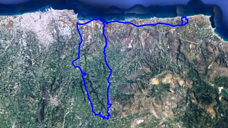 elia episkopi Karteros bike tour map