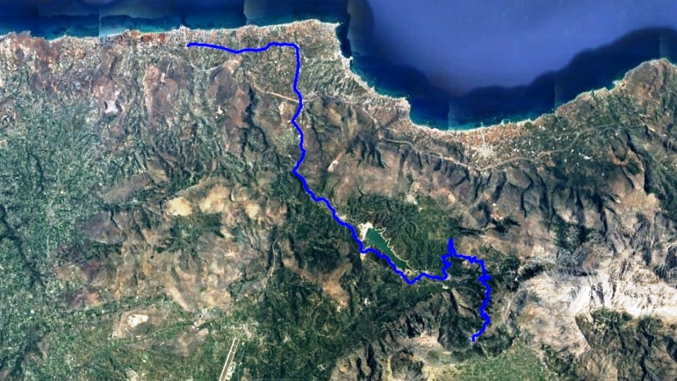 Lasithi climb start from Gouves