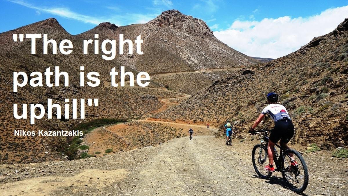 the right path is the uphill nikos kazantzakis