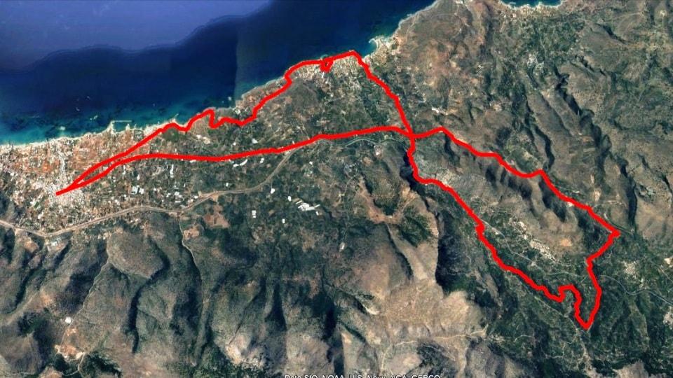 Anavlocho mtb Malia map