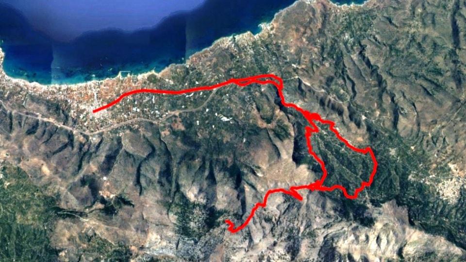 Azilakodasos Malia map