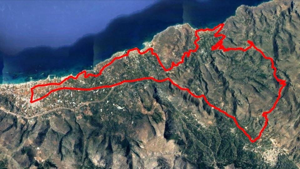 Malia Xirolimni map