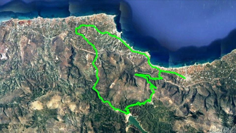 Potamies Mochos Malia map