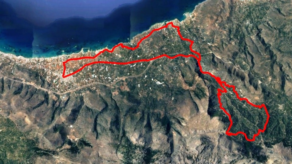 Vrachasotis Malia map
