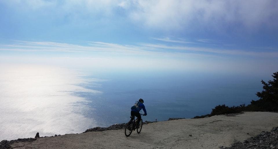 Libyan sea kapetaniana kofinas koudoumas mountain bike tour Crete Kreta
