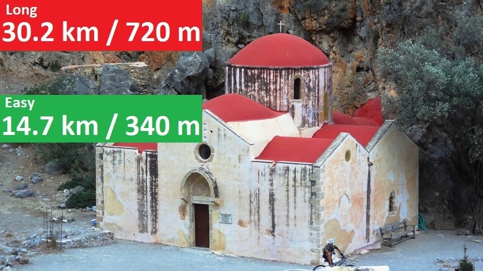 agios antonios church agiofaraggo mountain bike tour