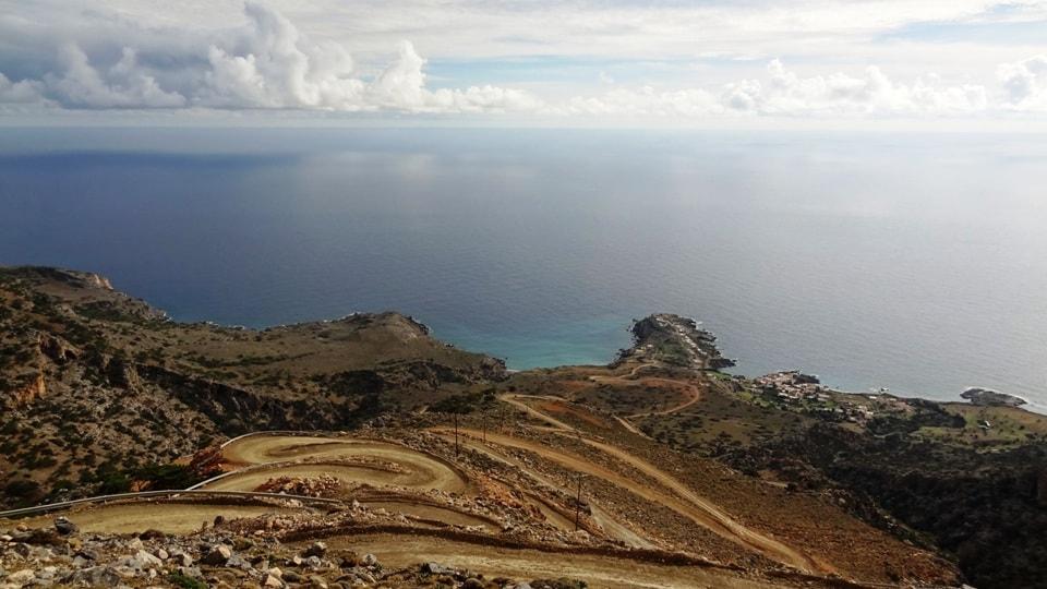 haipinned road kapetaniana kofinas koudoumas mountain bike tour Crete Kreta