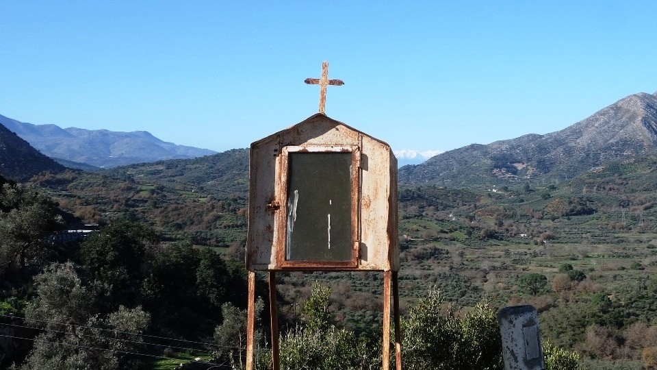 talaia iconostasi roadside chapel Crete Greece