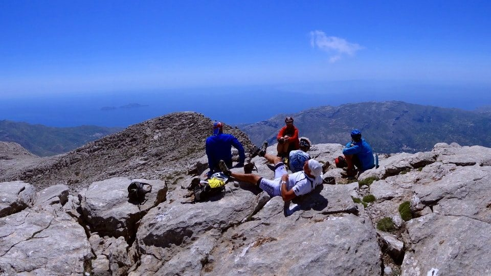 climbers at kedros mountain gerakaria crete