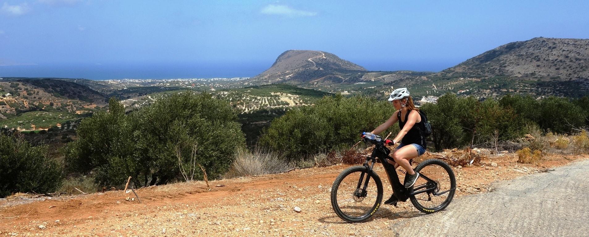 aposelemis ebike tour crete amazing view