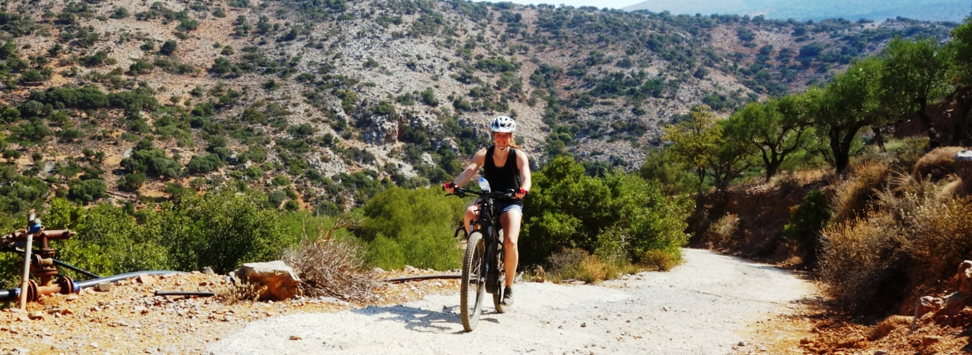 aposelemis ebike tour crete no uphill is difficult for an ebike
