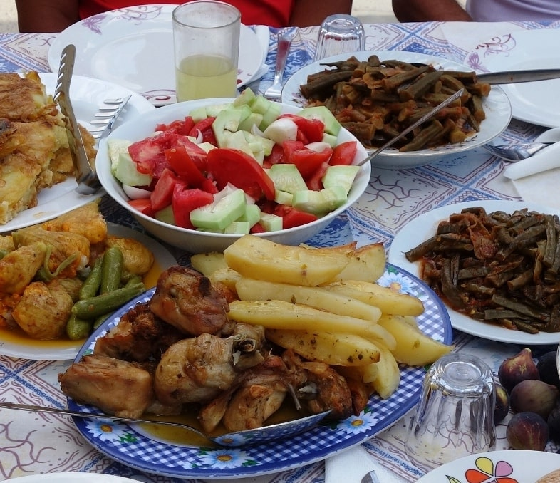 where to eat in Crete the best traditional Cretan dinner lunch meal bike tours