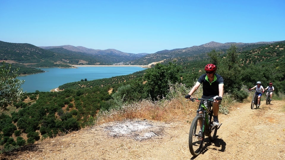 damakas ebike tour crete Kreta efahrrad tour aposelemis lake-min