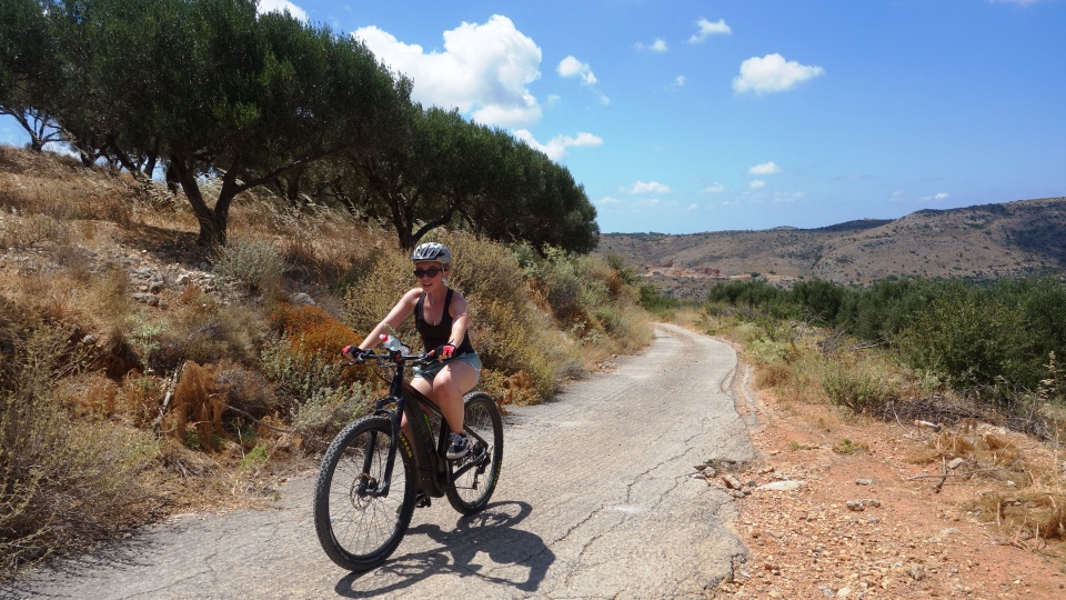 canyon and villages ebike tour Crete Kreta mountain biking cycling adventures nature villages and mountains