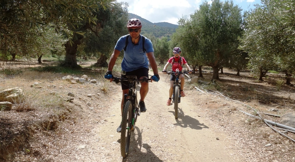 canyons and villages ebike tour Crete Kreta mountain biking cycling adventures nature villages and mountains ride through the olive trees