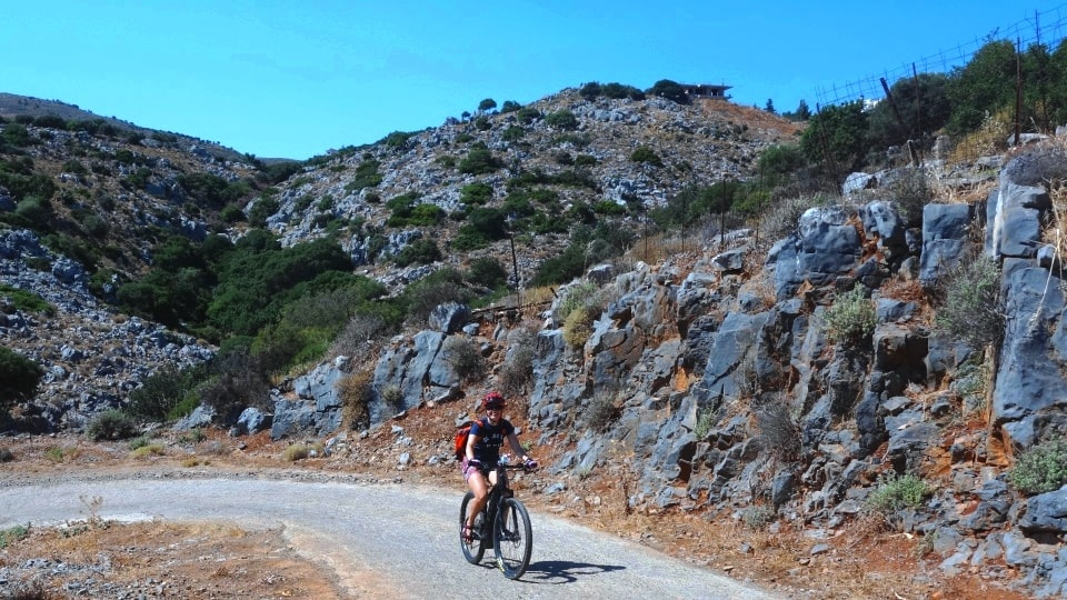 canyons and villages ebike tour Crete Kreta mountain biking cycling adventures nature villages and mountains the rocky landscape