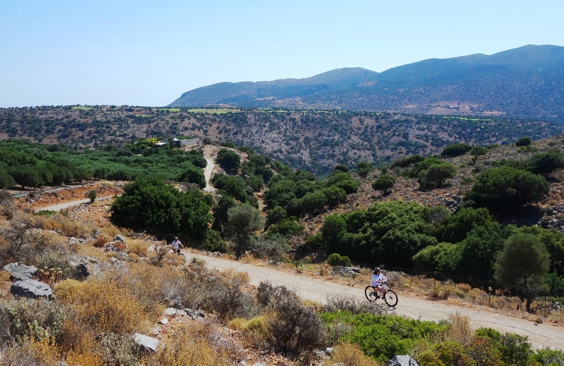 canyons and villages ebike tour Crete Kreta mountain biking cycling adventures nature villages and mountains