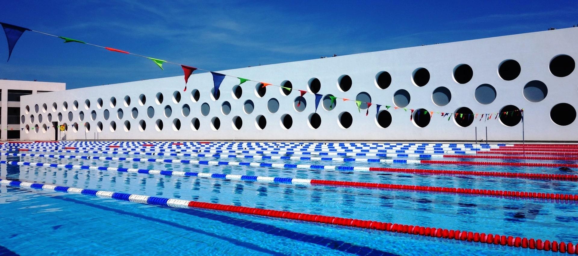 olympic sized swimming pool lyttos beach hotel Crete Greece cycling triathlon training camps
