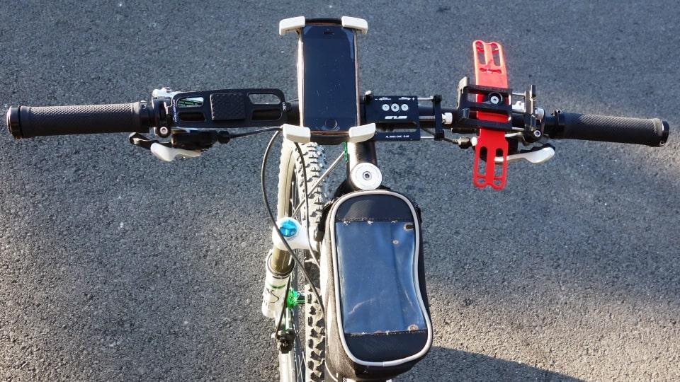bicycle handlebar mobile phone holders