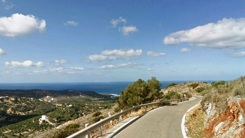Milatos climb2 best strava road cycling segments in Hersonissos Kreta Crete-min - Αντιγραφή-min