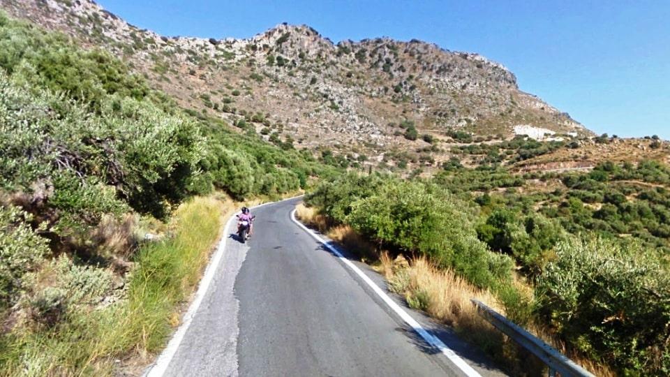 Vrachasi climb1 best strava road cycling segments in Hersonissos Kreta Crete-min