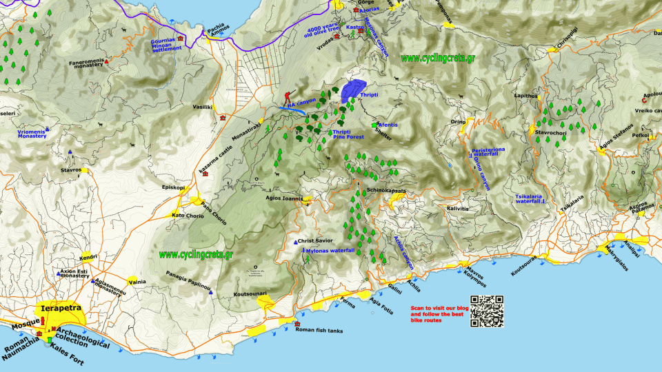 feature detailed map of Ierapetra east Crete Thripti map-min-min