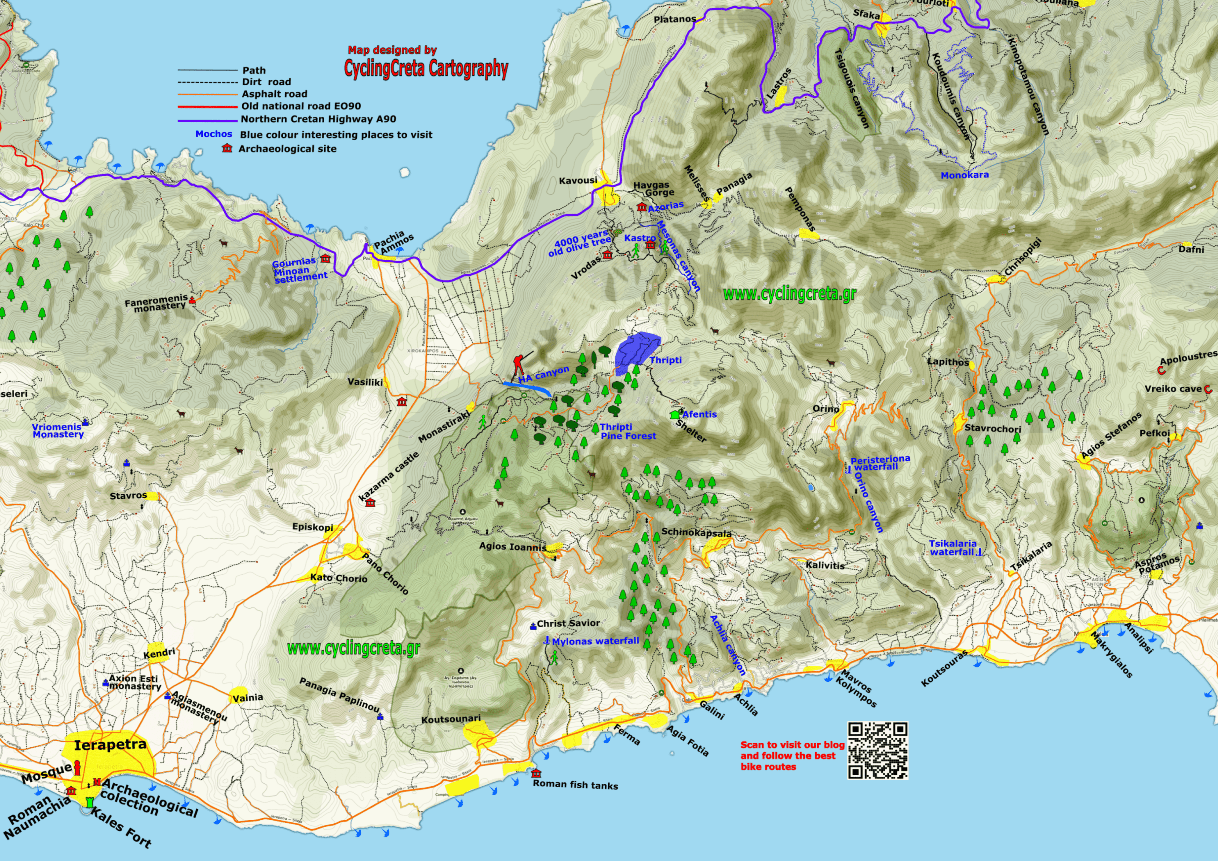 in the page detailed map of Ierapetra east Crete Thripti map-min-min