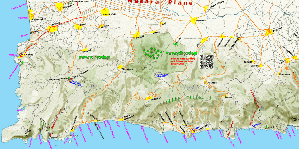 Feature image asterousia mountains mesara plain-Map Crete Hiking cycling min - Αντιγραφή-min