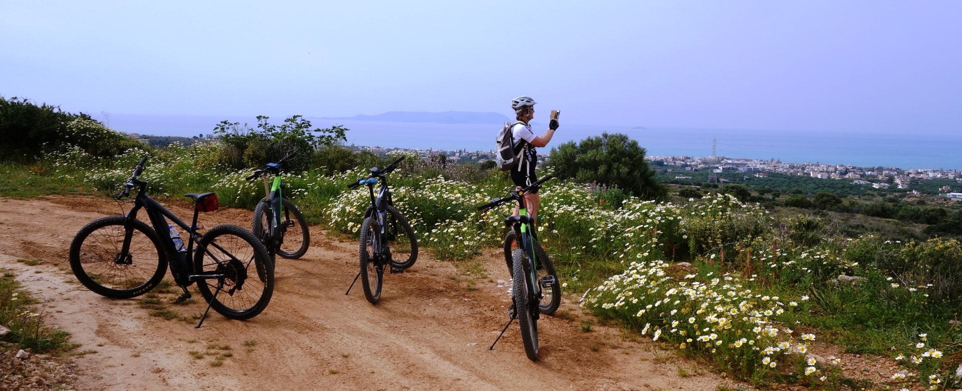 afternoon ebike tour Crete Kreta 3 hours easy bike tour create the best memories of your vacation-min