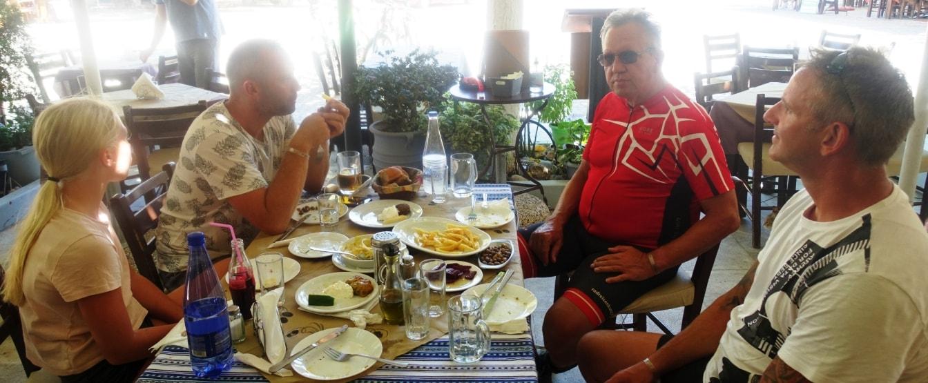 Lagoon ebike tour Crete Hersonissos Malia Stalis Analipsi Gouves Cube reaction bikes-tavern stop-min