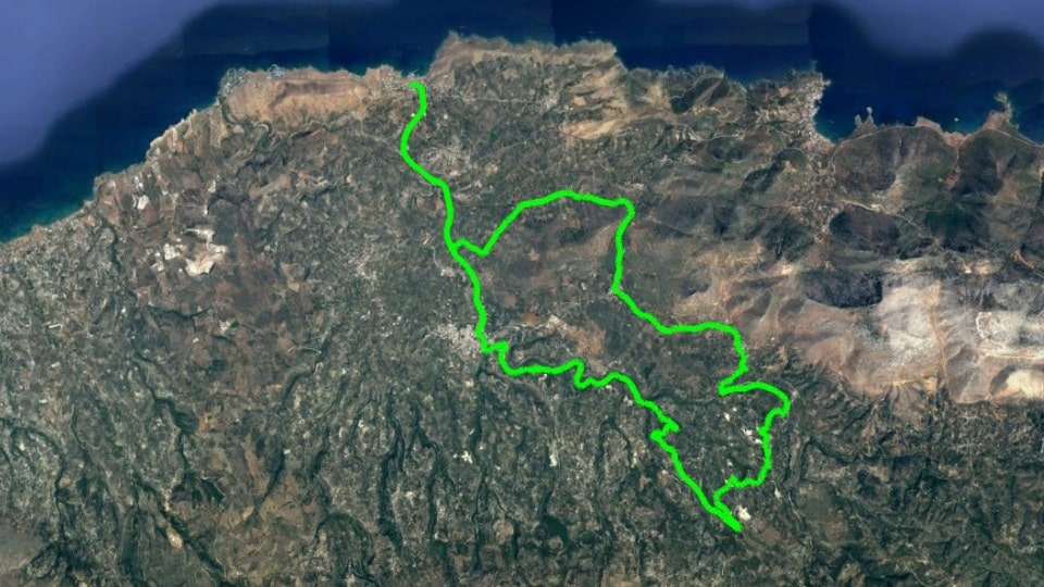 panormo Melidoni Agia Episkopo road bike tour map to download-min