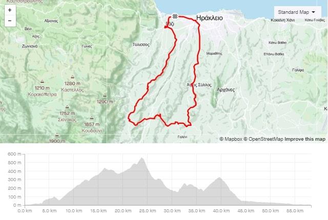 Asites Venerato Profitis-Ilias road bike tour start from Amoudara Crete-min